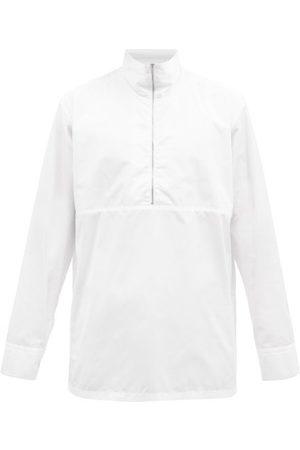 Jil Sander Men High Necks - Zipped High-neck Cotton-poplin Shirt - Mens