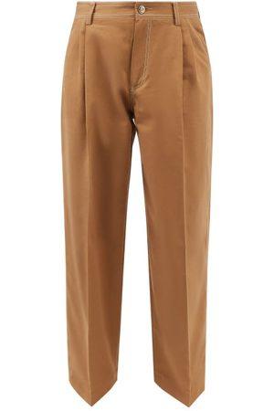 WALES BONNER London Cotton-blend Twill Wide-leg Trousers - Mens
