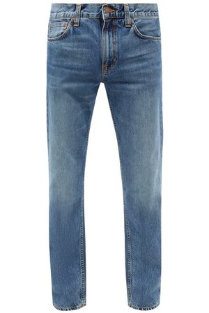 Nudie Jeans Men Straight - Gritty Jackson Organic-cotton Straight-leg Jeans - Mens