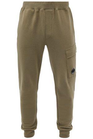 C.P. Company Men Cargo Pants - Cargo-pocket Cotton-fleece Tapered-leg Track Pants - Mens