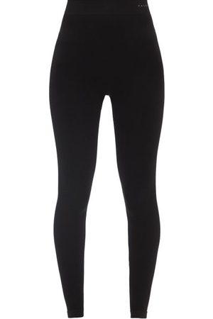 Falke Women Leggings - High-rise Wool-jersey Performance Leggings - Womens
