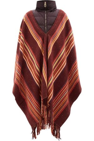 Chloé Quilted-collar Striped Cashmere-blend Poncho - Womens - Multi