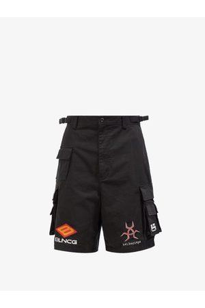 Balenciaga Logo-embroidered Twill Shorts - Mens