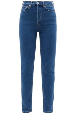 RE/DONE 90s High-rise Skinny-leg Jeans - Womens - Mid Denim