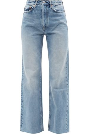 RE/DONE Women High Waisted - 70s Ultra High Rise Wide-leg Jeans - Womens - Light Denim
