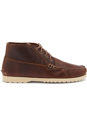 Quoddy Lace-up Leather Chukka Boots - Mens - Dark
