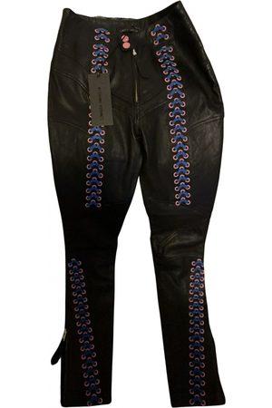 FRANKIE MORELLO Leather slim pants