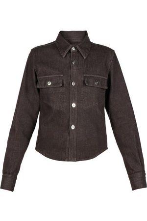Bottega Veneta Flap-pocket Denim Shirt - Womens