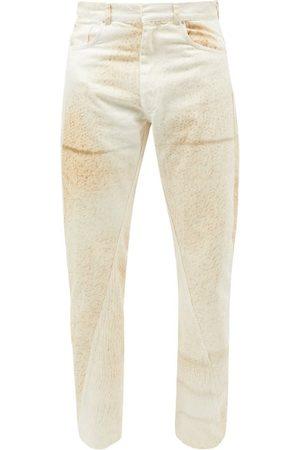 Bianca Saunders X Wrangler Twisted-seam Knit-print Jeans - Mens