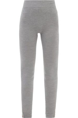 Falke Women Leggings - High-rise Wool-blend Jersey Performance Leggings - Womens - Light Grey