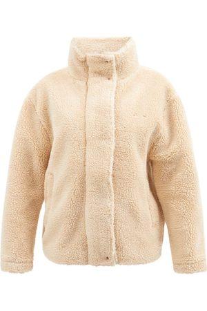 The Upside Aspen Faux-shearling Fleece Jacket - Womens - Nude