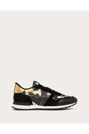 VALENTINO GARAVANI Men Sneakers - Rockrunner Camouflage Metallic Sneaker Man /antique Brass 100% Pelle Di Vitello - Bos Taurus 40