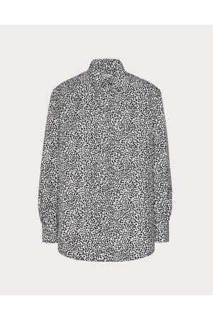 VALENTINO Men Shirts - Sporty Nylon Shirt With Animalier Print Man / 100% Poliammide 46