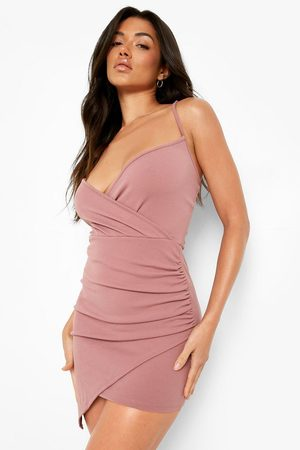 Boohoo Womens Recycled Wrap Detail Bodycon Dress - - 2