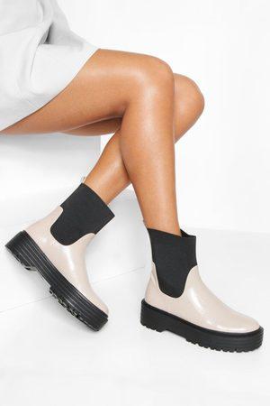 Boohoo Womens Chunky Sock Chelsea Boot - - 5