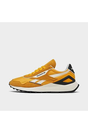 Reebok Men Casual Shoes - Men's Classic Leather Legacy AZ Casual Shoes in Yellow/Collegiate Size 8.0 Leather/Nylon/Suede