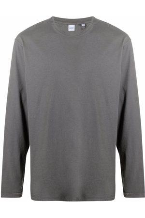 Aspesi Long-sleeved cotton T-Shirt - Grey