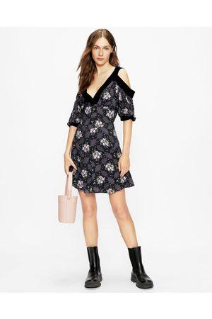 Ted Baker Low V Cold Shoulder Mini Dress
