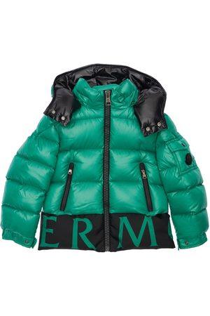 Moncler Boys Jackets - Pervin Hooded Nylon Down Jacket