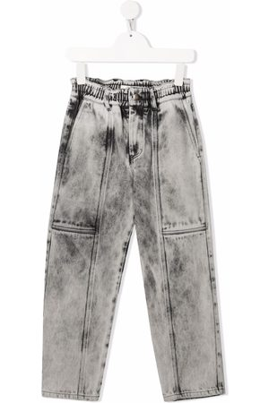 Le pandorine Mid-rise straight-leg jeans - Grey