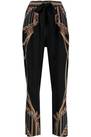 Camilla Belle of the Baroque silk trousers