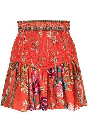 Camilla The Queen Wore shirred mini skirt