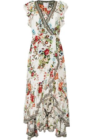 Camilla Women Printed Dresses - Shakespeares Garden-print wrap dress
