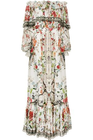 Camilla Women Strapless Dresses - Shakespeare's Garden off-shoulder dress