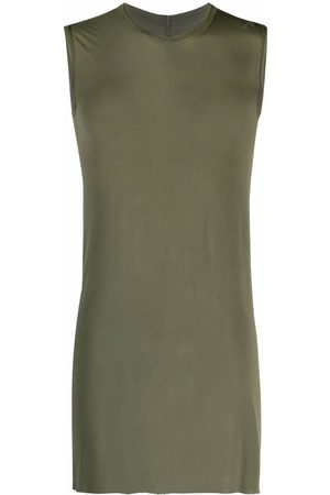 Rick Owens Men Tank Tops - Crew-neck fitted tank top