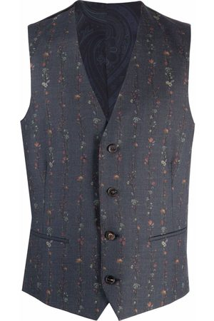 Etro Floral-print single-breasted waistcoat