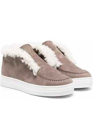 MONTELPARE TRADITION Shearling trim sneakers - Neutrals
