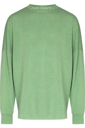 Palm Angels Men Long Sleeve - Rear logo-print long-sleeve T-shirt