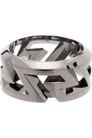 VERSACE Men Rings - Greca cut-out ring