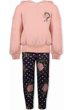 Lapin House Girls Sports Hoodies - Rose-logo print hoodie tracksuit