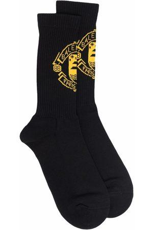 Balenciaga Men Socks - Quest intarsia-knit ribbed socks