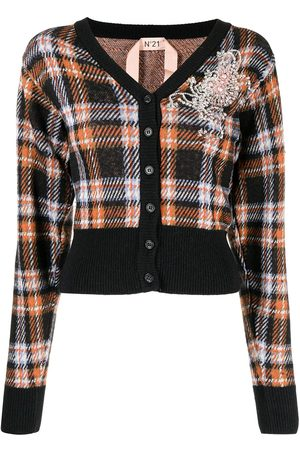 Nº21 Women Cardigans - Tartan check print cardigan