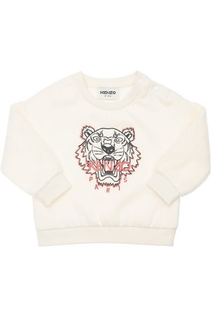 Kenzo Girls Sweatshirts - Embroidered Cotton Blend Sweatshirt