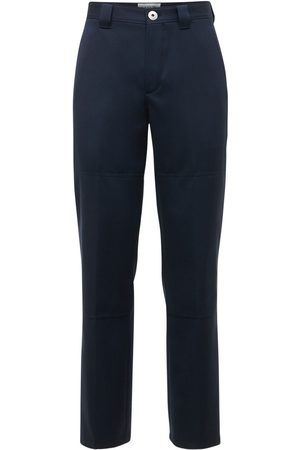 Lanvin Men Wide Leg Pants - Wide Leg Double Wool Pants