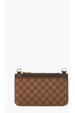 Boohoo Womens Flannel Print Clutch Bag - One Size