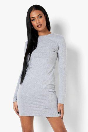 Boohoo Women Bodycon Dresses - Womens Tall Basic Long Sleeve Bodycon Mini Dress - - 2