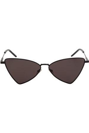 Saint Laurent Cat Square Metal Sunglasses