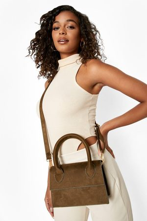 Boohoo Womens Smooth Top Handle Suede Crossbody Bag - - One Size