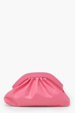 Boohoo Women Clutches - Womens Oversized Ruched Clutch Bag - - One Size