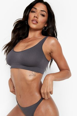 Boohoo Women Underwear Accessories - Womens Second Skin Seamfree Bra Crop Set - - S