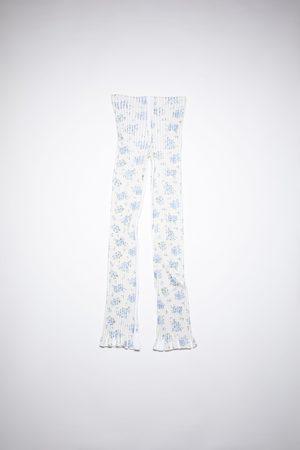 Acne Studios Women Wide Leg Pants - FN-WN-TROU000673 /blue Ribbed trousers