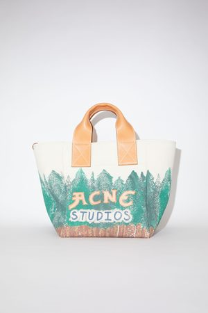 Acne Studios Women Tote Bags - FN-UX-BAGS000067 /green Printed tote bag