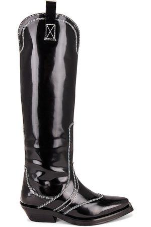 Ganni Knee High Western Boot in .