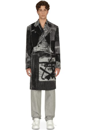 OFF-WHITE Pablo tomek double-breasted coat NO COLOR