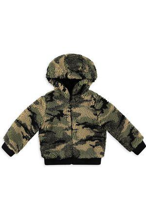 Bella Dahl Girls Fleece Jackets - Little Girl's & Girl's Camo Teddy Hoodie Jacket
