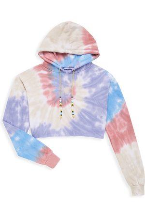 KatieJ NYC Girl's Cloud Tie-Dye Hoodie
